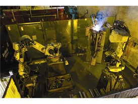 Robot welding New Holland Manufacturing Plant