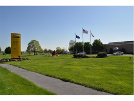 The entrance to the New Holland Plant in New Holland Pennsylvania