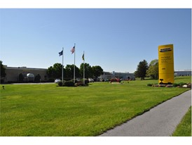The entrance to the New Holland Haytools Plant in New Holland