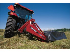 Case IH Rotary Disc Mower at work