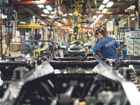 Inside the IVECO plant in Madrid
