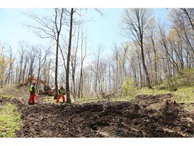 The project included clearing a 40,000 square foot pad for a future all-terrain vehicle program at the camp