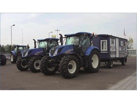 New Holland tractors return to Basildon after completing 5000 mile coastline challenge for charity
