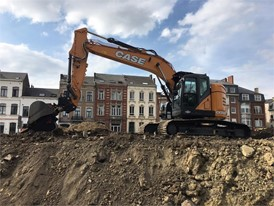 First CASE CX245D SR excavator delivered is at work on Belgium jobsite