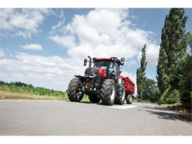 Case IH Maxxum undertaking road transport