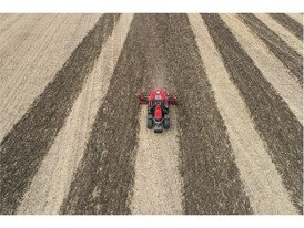 Case IH Puma Tractor working using advanced AFS skip row functionality