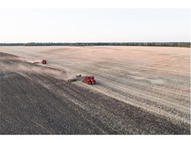 New Quadtrac CVX tractor's undertaking field cultivation activities