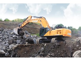 The CX750D Excavator is the largest and most powerful machine in the CASE excavator range