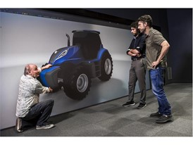 Virtual 3D modelling of the New Holland methane powered concept tractor