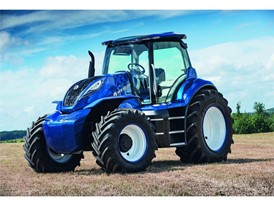 The methane powered concept tractor from New Holland represents a new departure in agricultural styling