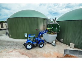 Waste food can be fed into the biodigester to generate biogas