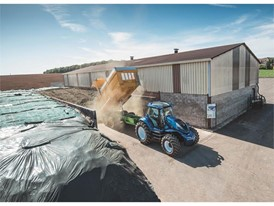 Once the energy crop is transported back to the farm it is tipped and stored in silage clamps