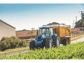 The harvested energy crop is brought back to the farm for storage
