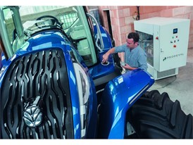 Refueling the Methane Power Concept Tractor is easy and can be conducted on farm