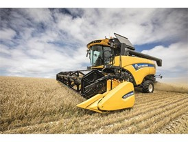 CX6 80 Tier4B Combine in the field