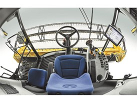 New Holland CX6 80 Tier4B Combine inside the cab