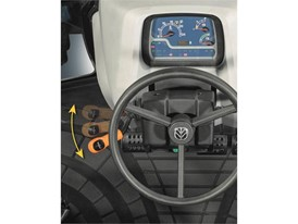 This steering column mounted lever can be operated without removing the hand from the steering wheel