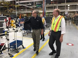 Congressman Loebsack tours CNH Industrial's Case Construction Equipment plant in Burlington, Iowa