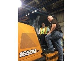 Congressman Loebsack visits Case Construction Equipment plant in Burlington, Iowa