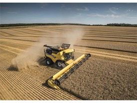 New Holland CR Revelation Combine in the field