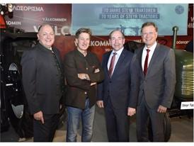 Brand President Case IH & STEYR Andreas Klauser, Tobias Moretti, Landesrat Max Hiegelsberger, Heinz Pöttinger