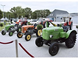 Guests were able to see close up a large number of vintage tractors