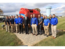 U.S. Senator Bob Casey visits New Holland employees during a plant tour