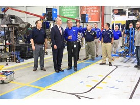 U.S. Senator Bob Casey gets a tour of CNH Industrial's  New Holland, Pennsylvania plant