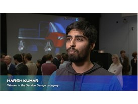 RCA Student Harsh Kumar, winner in the Service Design category