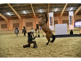 Guests were treated in the indoor arena to an impressive demonstration of dressage