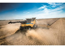 New Holland CR10 Revelation Tier 4B Combine harvesting the field