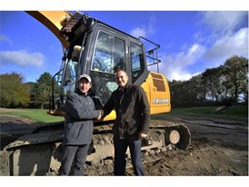 From left to right, Robert Parry, Coates Plant Sales Ltd with Charlie Greasley, John Greasley Ltd