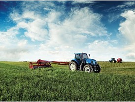 New Holland tractor and Discbine 313