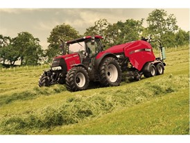 Case IH Puma with RB544 Baler