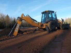 CASE 580N WT backhoe loader