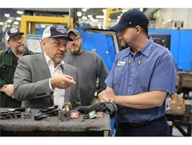 Congressman Smucker visits New Holland, Pennsylvania plant