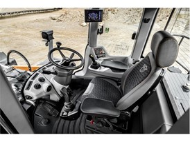 The cabin of the CASE G-Series wheel loaders sets new standards in comfort and safety