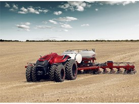 The autonomous concept tractor recognized as one of the most innovative and cutting-edge industrial designs