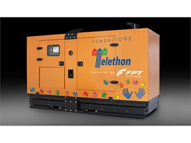 FPT Industrial 125 kVA Genset in special Telethon liver powered by a NEF 67 engine