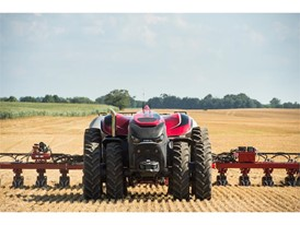Case IH Autonomous Tractor Concept working in the field