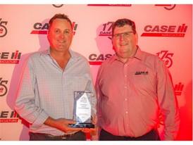 L-R: Ross Cheshire, McDonald Murphy Bundaberg - Queensland ; Bruce Healy, Case IH Brand Leader Australia and New Zealand