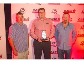 The team from Intersales, winner Dealer of the Year, for one or two branches, with Bruce Healy, Case IH Brand Leader