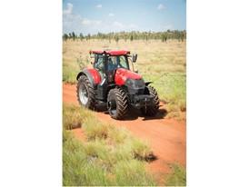 Case IH Optum on an Australian farm track