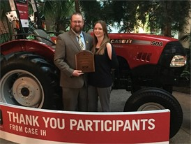 Casey and Stacey Phillips of Virginia recently received a new Farmall 50A tractor from Case IH