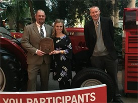 Justin and Lori McClellan of Virginia recently received a new Farmall 50A tractor from Case IH
