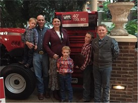 Cassie Lyman of Arizona recently received a large tool chest and $500 Case IH parts gift card from Case IH