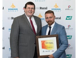 Troy Blackman receiving the2016 Young Farmer of the Year Award