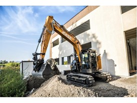 The CX145DSR crawler excavator is the perfect machine when space is limited