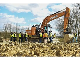 CASE Crawler Excavator at the Customer Center in Paris