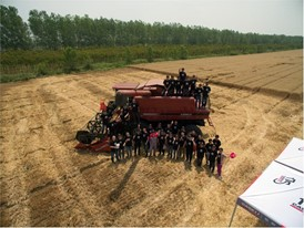 Case IH technical training event was organized in Yancheng city with a focus on Case IH Axial-Flow 4088 HD combine.